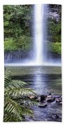 Waterfall Beach Towel by Les Cunliffe