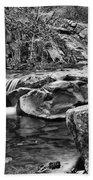 Waterfall Mono Beach Towel