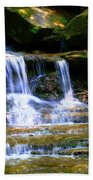 Waterfall Trio At Mcconnells Mill State Park Beach Towel