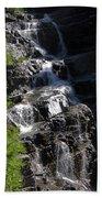 Waterfalls Along Going-to-the-sun Road Beach Towel