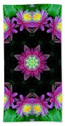 Waterlily Kaleidoscope Beach Towel