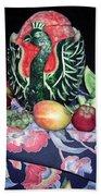 Watermelon Swan Beach Towel