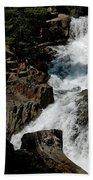 Waters Flow Glen Alpine Falls Beach Towel
