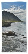 Waves At Kaena State Park 7847 Beach Towel