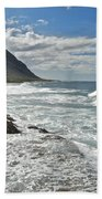 Waves Breaking On Shore 7876 Beach Towel