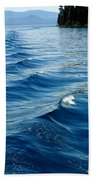 Waves On Tahoe Beach Towel
