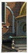 Wawel Domes In Krakow Poland Beach Towel