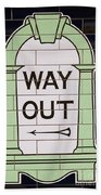 Way Out Beach Towel