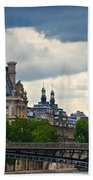 Weather In Paris Beach Towel