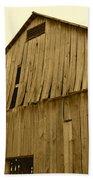 Weathered Barn I In Sepia Beach Towel