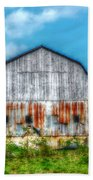 Weathered Barn Beach Towel