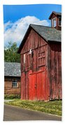 Weathered Red Barn Beach Towel