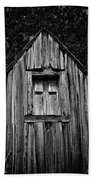 Weathered Structure - Bw Beach Towel