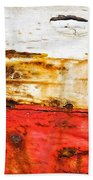 Weathered With Red Stripe Beach Towel by Silvia Ganora