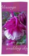 Wedding Blessings Greeting Card - Columbine Blossom Beach Towel