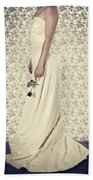 Wedding Dress Beach Towel by Joana Kruse