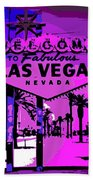Welcome To Vegas No.2 Beach Towel