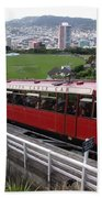 Tram Car Viewpoint - Wellington, New Zealand Beach Towel