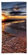 Welsh Sunset Beach Towel