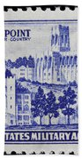 West Point Postage Stamp Beach Towel