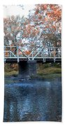 West Valley Green Road Bridge Along The Wissahickon Creek Beach Towel by Bill Cannon