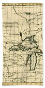 Western Canada And The Five Great Lakes Beach Towel