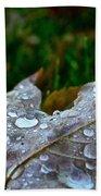 Wet Leaf Beach Towel