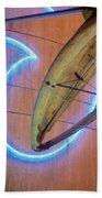 Whale Into Blue Wave Beach Towel