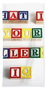 What Is Your Allergy Iq Beach Towel