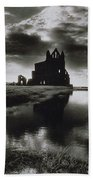 Whitby Abbey Beach Towel by Simon Marsden