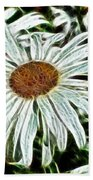 White Daisies Beach Towel