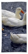 White Ducks Beach Towel