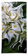 White Flowers 2 Beach Towel