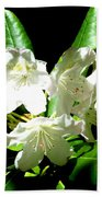 White Flowers Beach Towel