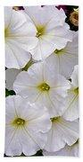 White Flowers Beach Towel