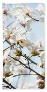 White Flowers Beach Sheet