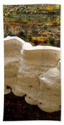White Fungus Beach Towel