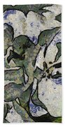 White Geraniums   -- Vangogh Beach Towel
