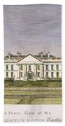 White House, D.c., 1820 Beach Towel