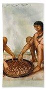 White: Native Americans Eating Beach Towel