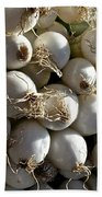 White Onions Beach Towel