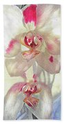 White Orchid Beach Towel