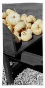 White Pumpkin Harvest Beach Towel