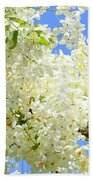 White Shower Tree Beach Towel