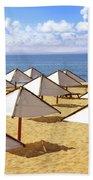 White Sunshades Beach Towel