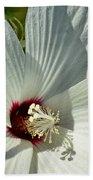 White Wildflower I Beach Towel