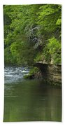 Whitewater River Spring 5 B Beach Towel