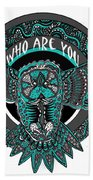 Who Are You Blue Beach Towel