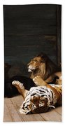 Whoever You Are Here Is Your Master Beach Towel by Jean Leon Gerome