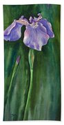 Wild Iris I Beach Towel